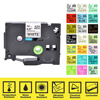 Cassette Compatible for Brother TZE TZ Label Tape Cartridge P-Touch Printer