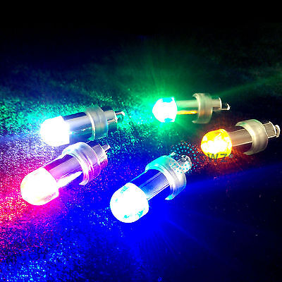 WATERPROOF LED LIGHT Mini Glowing Flashing MULTI COLOUR Balloon For Disco Party