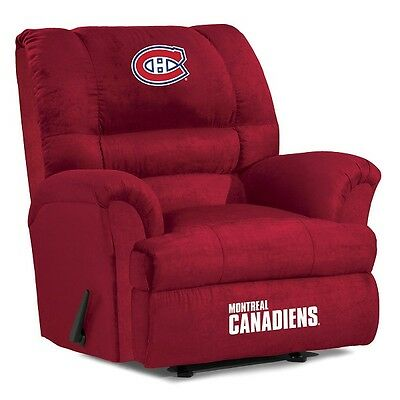 Montreal Canadiens NHL Big Daddy Microfiber Rocker Recliner
