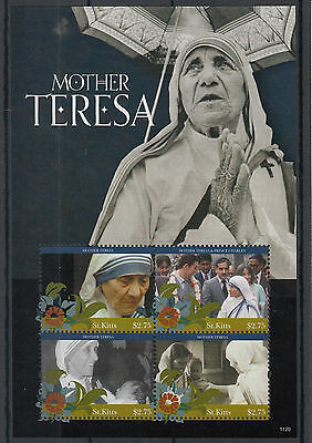 St Kitts 2011 MNH Mother Teresa 4v M/S II Prince Charles Royalty