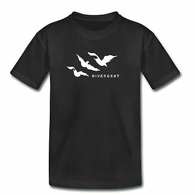 Kids DIVERGENT BIRDS TShirt - Childrens Boys Girls Divergente Gift Present