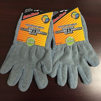 LOT OF 72 New Autozone Microfiber Interior Cleaning/Dusting Gloves Wholesale