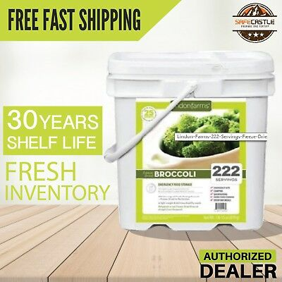 Lindon Farms 222 Servings Freeze Dried Broccoli Long Term, Free Shipping