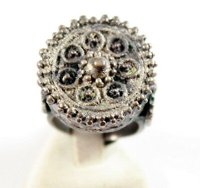 Amazing Large And Huge Post-Medieval Silver Ring  # 825