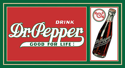 Dr. Pepper Good for Life Blechschild Flach Neu aus USA 21x40cm S1699