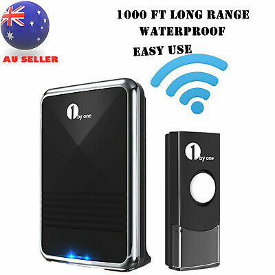 1Byone 36 Sounds Led 100M Wireless DoorBell Door Bell 3 Receivers Sync 2 Remotes