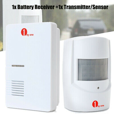 Wireless Motion Sensor Detector Door Gate Entry Bell Chime Alarm Sync 2 Sensors