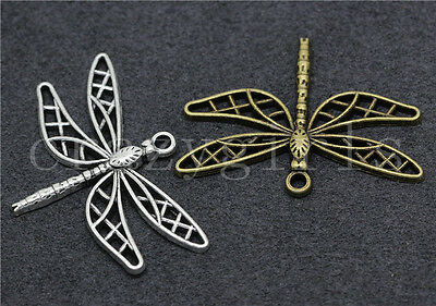 5/20/100pcs Tibetan Silver Exquisite Dragonfly Jewelry Charms Pendant 35x25mm