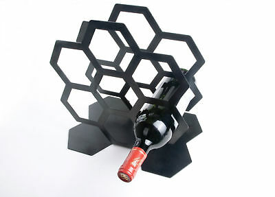 7 Bottle Wine Rack Stand Bottle Holder New Bar Glass Cocktail Bottles Storage St