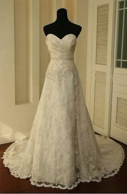 NEW lace Sweetheart A-line Wedding Dress Bridal Gown stock Size6-8-10-12-14-16
