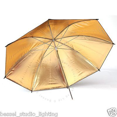 Bessel - 90cm Gold Reflective Umbrella with 7mm stem fits Elinchrom lamps