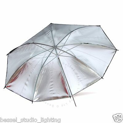 Bessel - 90cm Silver Reflective Umbrella with 7mm stem fits Elinchrom lamps