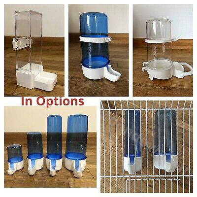 Blue Anti Algae Bird Cage Drinker Feeder Bottles Finches Canary Budgie Birds