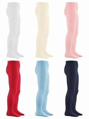 Playshoes Uni Cotton Baby Toddler Child Tights Birth - 8 Years 6 Colours