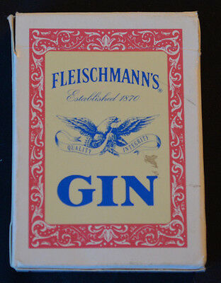 Fleischmann's Gin Deck Of Poker Size Advertising Playing Cards