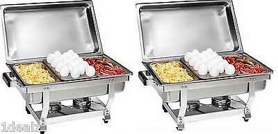 1/3 Size CHAFER PAN 6 PACK CATERING HOTEL CHAFING DISH ONE THIRD SIZE PANS