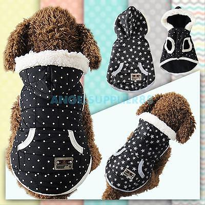 Small Pet Dog Winter Coat Cat Puppy Cozy Clothes Apparel Hoodie Jumpsuit Outwear