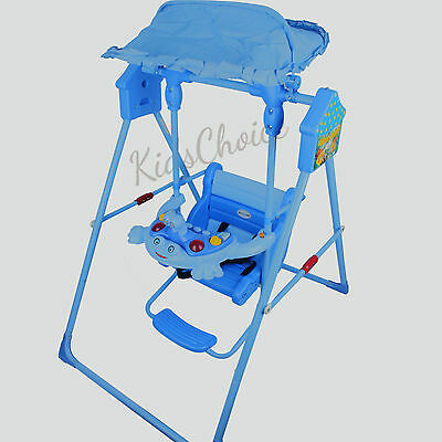 Baby Swing Rocker Rocking Chair Safe Seat Canopy Toddler Infant Indoor Outdoor