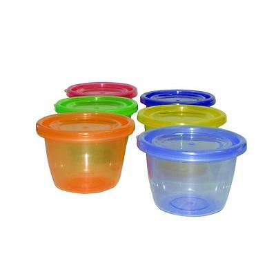 New Dreambaby F591 Multi-Coloured Snack Cups 8 Pack