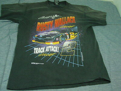 VTG  Nascar RUSTY WALLACE T-SHIRT  Large LQQK!