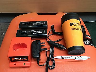Replacement Paslode Charger Base/2 Batteries/Acdc Adapter/In Car Charger