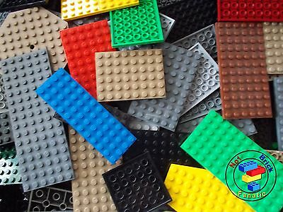Lego 20 x Base Plates Boards Strips Bases in Mixed Colours ***OVER 1000 SOLD***