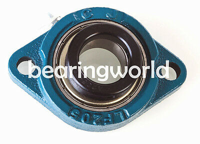 NEW HCFT205-25MM High Quality Eccentric Locking Collar 2-Bolt Flange Bearing