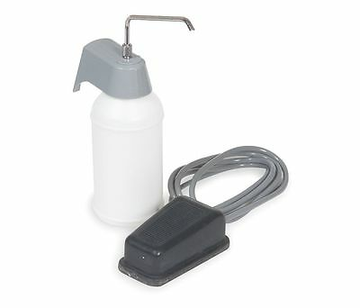 1DYD8 Soap Dispenser Silver, White Wall Mount Foot operated