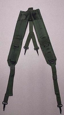 GOOD US Military LC-1 ALICE Suspenders Belt Green Y Straps Load Bearing LBE
