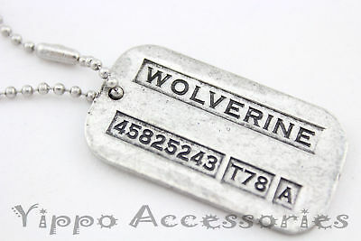 Wolverine Logan X-men Vintage Weapon-X Double-Sided Dog Tag Pendant Necklace