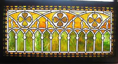 VICTORIAN STAINED GLASS  WINDOW  ca. 1880s