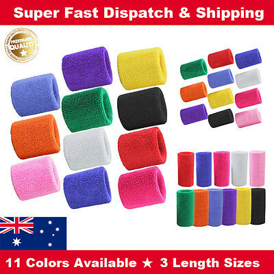 A Pair Cotton Wristbands Sweatbands Sweat band for Sport Tennis Yoga Gym Unisex