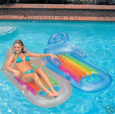 Pvc Inflatable Swimming Pool Beach Sea Sun Lounger Air Bed Lilo Float Chair