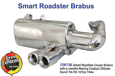 Performance Rear Exhaust Muffler for Smart Roadster Coupe Brabus with Racing CAT