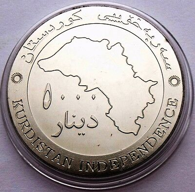 KURDISTAN IRAQ 5000 DINARS 2014 INDEPENDENCE COMMEMORATIVE COUNTRY MAP UNC 39 mm