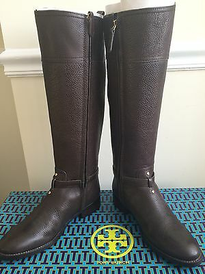 6f245a1b587 NEW  495 TORY BURCH MARLENE RIDING BOOTS Black or Coconut Size 6