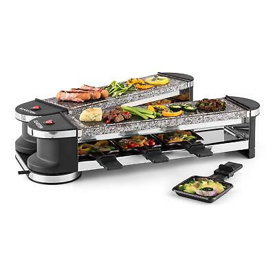 Cheese Raclette Grill Party 8 Persons Natural Stone Bbq Indoor Kitchen *freep&p*