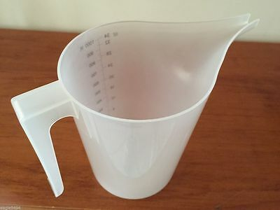 1l Plastic Measuring Pouring Jug Candle & Soap Making Kitchen 1 litre Long Spout