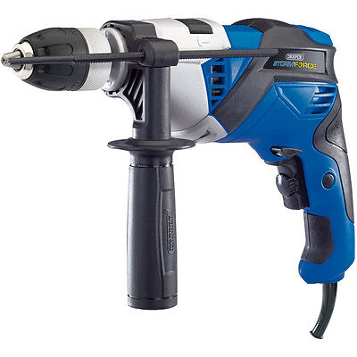 Heavy Duty Draper 20500 810W Electric Hammer Drill Variable Speed Impact Driver