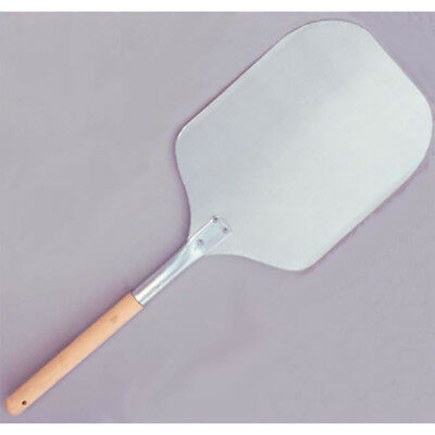 "Pizza Peel, Aluminum Blade With Wood Handle. Blade size 12"" X 14"""