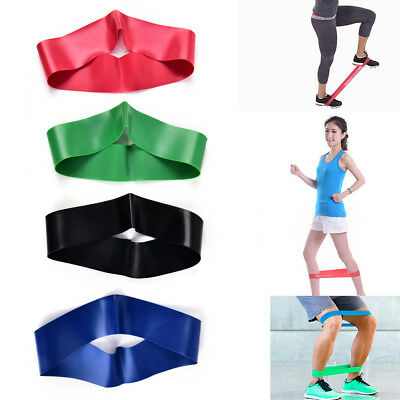 Resistance LOOP Tubing Exercise Stretch Bands Gym Elastic Pilates Yoga 4 Color
