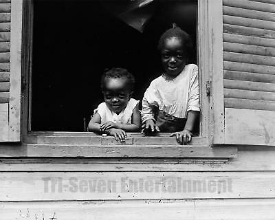 Antique African American Photo Adorable Sisters Girls Vintage Black Americana