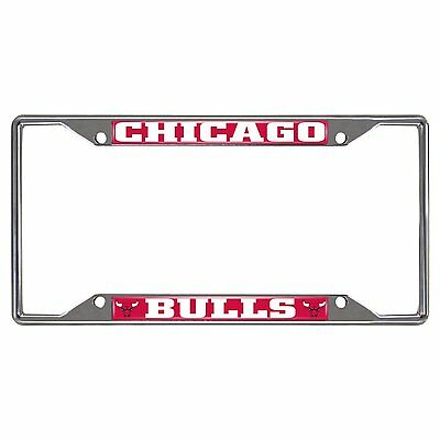 CHICAGO BULLS NBA Chrome Metal License Plate Frame FREE US SHIPPING ...