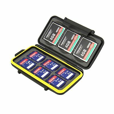 JJC MC-SD6CF3 Water Resistant Memory Card Case fits 6 x SD and 3 x CF Cards