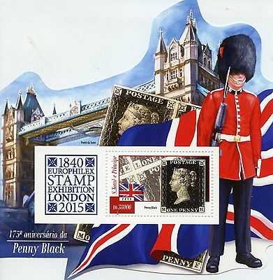 Sao Tome & Principe 2015 MNH Penny Black 175th Ann Europhilex 1v SS Tower Bridge