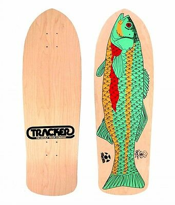 Tracker Garry GSD Davis FISH AUTOGRAPHED 8 PLY Skateboard Deck NATURAL