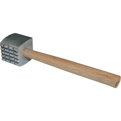 Winware by Winco Meat Tenderizer, Aluminum with Wood Handle