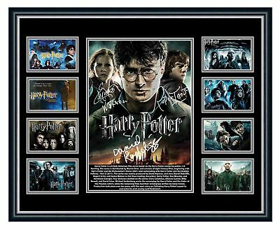Harry Potter Cast Daniel Radcliffe Signed Limited Edition Framed Memorabilia