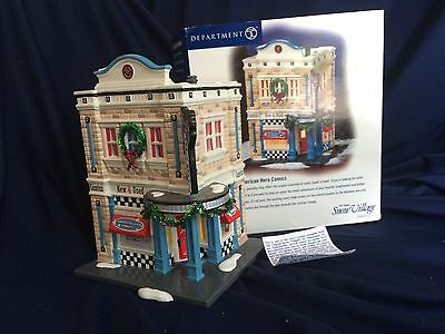 Department 56 Snow Village American Hero Comics Limited Edition