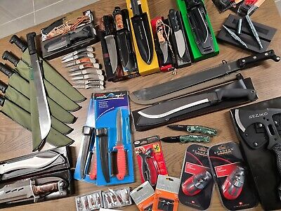 Wholesale Lot Retail Markets Package! Outdoor Hunting Knives Fixed Blade Folding